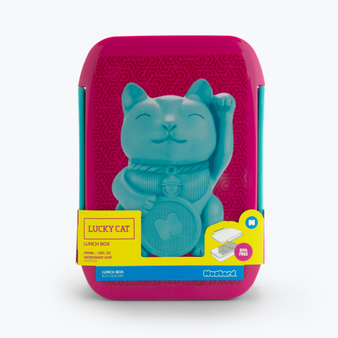 MUSTARD lucky cat lunch box