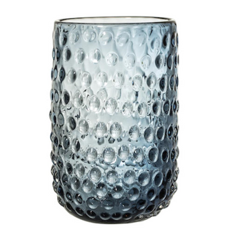 BLOOMINGVILLE vase glass, blue