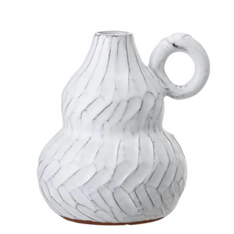 BLOOMINGVILLE deco vase white terracotta