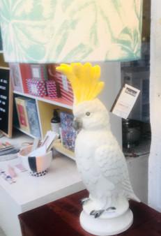 STUDIO AUS trad sulphur crested cockatoo lamp