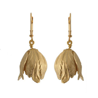 WE DREAM IN COLOUR tulip earrings gold