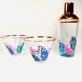 SUNNYLIFE shaker and glass set