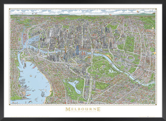 THE MELBOURNE MAP colour poster large