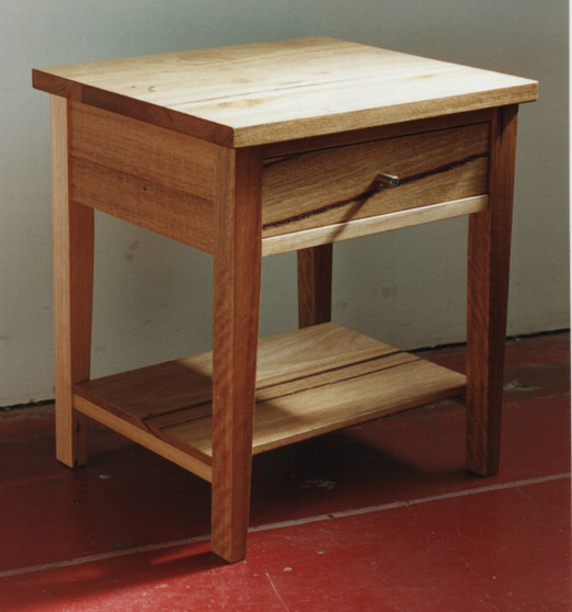 Bedside Table, with drawer and shelf