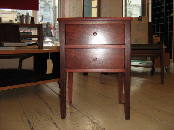 Jarrah Bedside table with two drawers