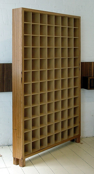 8x11 CD cabinet, Crazy Ash and clear, Barbi