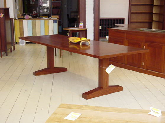Redgum trestle table