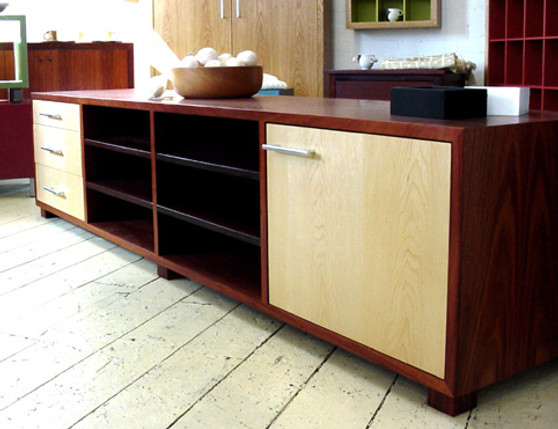 Jarrah and Rock Maple cabinet