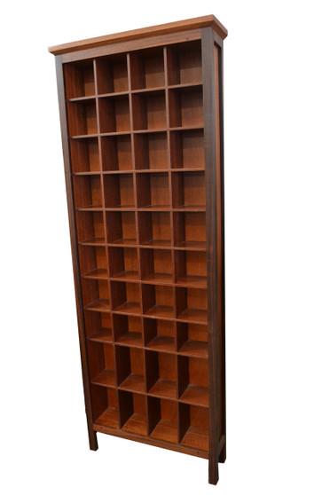 Cd cabinet 4x11, Jarrah with Jarrah interior