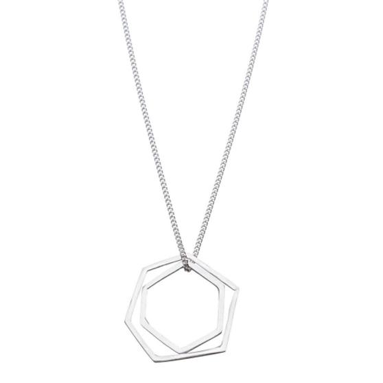 SHABANA J necklace geo shapes