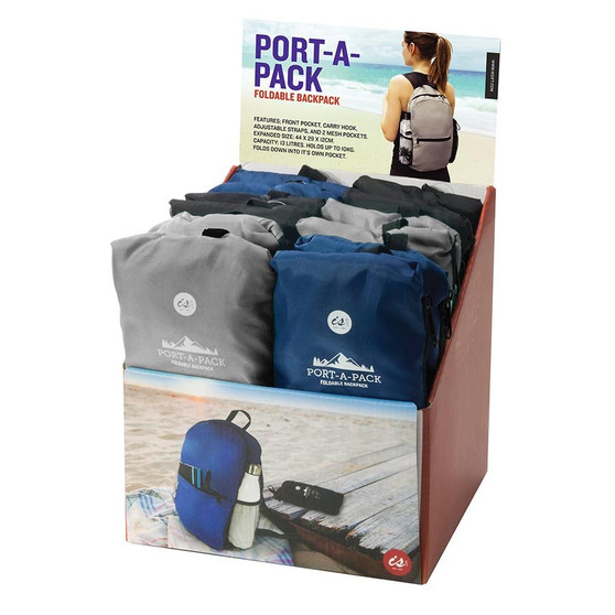 IS GIFT port-a-pack foldable backpack 13L