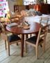 Circle dining table, Redgum