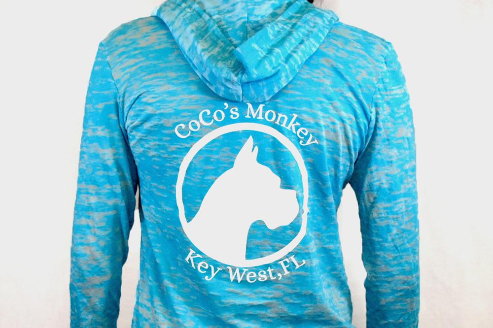 CoCo's Monkey Burnout Island Hoody Tahiti Blue