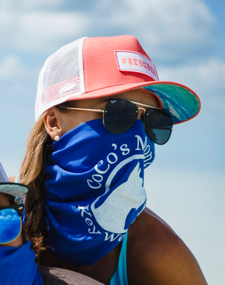 Coco's Monkey Logo Mask/Buff in Royal Blue! Also available in White!