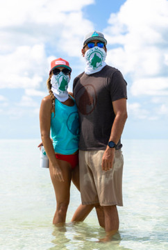 Coco's Monkey Logo Mask/Buff in White! Available in Royal Blue too!