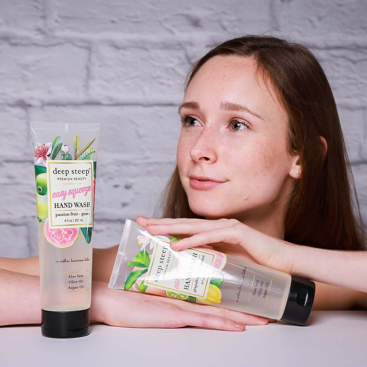 Helen with Easy Squeeze Hand Wash Passion Fruit Guava
