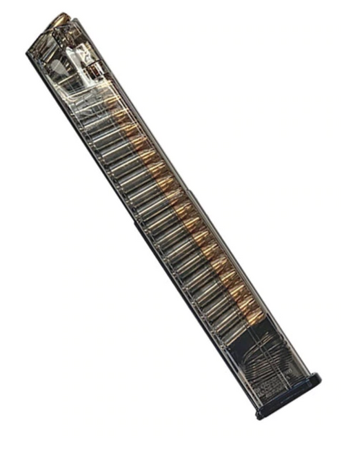 ETS Glock 17 9mm 40rd Magazine-Clear- REBUILD KIT