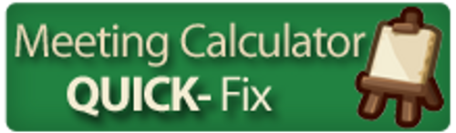 QUICKFix Effective Meetings Cost Calculator