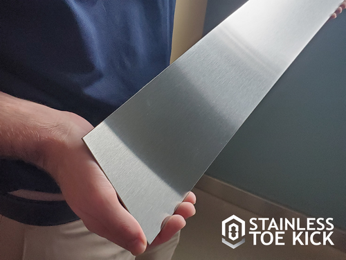 Marine Grade Stainless Steel Toe Kick- Custom Size (Grained Finish)