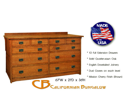 Mission 10 drawer dresser