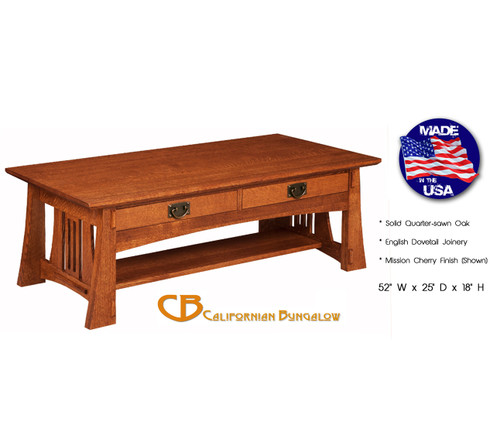 Arts & Crafts Mission Bungalow Style Coffee Table