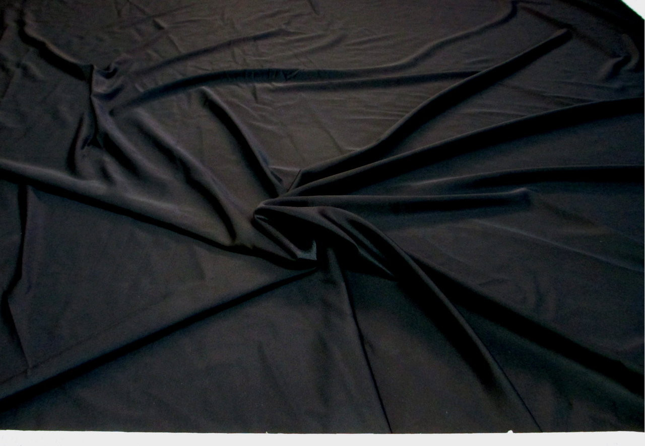 Discount Fabric Nylon Lycra Spandex 4 way stretch Solid Black NLY03