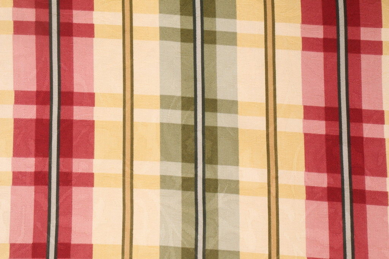 Richloom Drapery Davon Yellow Plaid Jacquard Damask Discount