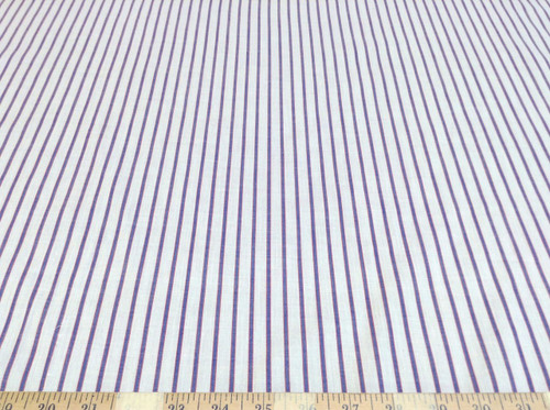 Discount Fabric Top Weight Cotton Shirting Apparel Blue and Red Stripe CT002