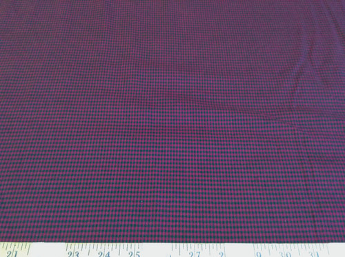 Discount Fabric Quilting Cotton Purple and Dark Green Gingham plaid CT032