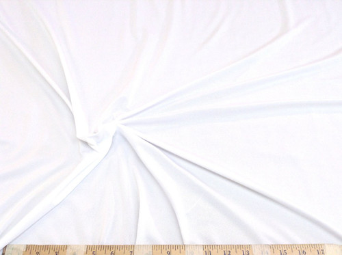 Discount Fabric Light Weight Polyester Lycra Spandex 4 way stretch White LY785