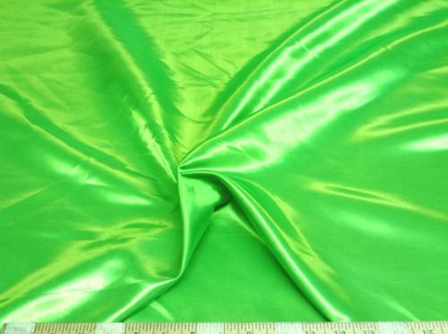 Discount Fabric Satin Apple Green 65 inches wide SA96