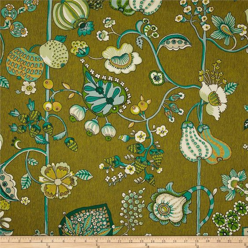 Discount Fabric Richloom Upholstery Drapery Delphine Sateen Jungle Green RL106