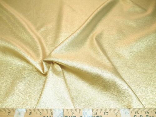Discount Fabric Allure Metallic Gold Thread Lame Costume Holiday Decor LA01