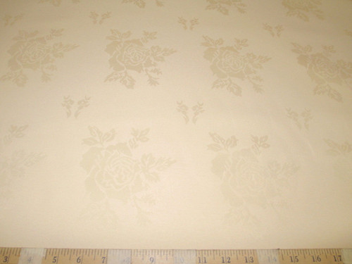 Discount Twill Tablecloth Fabric Jacquard All Over Rose Light Peach DR41