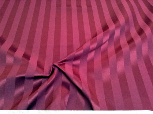Discount Tablecloth Fabric Brocade Satin Stripe Burgundy DR29