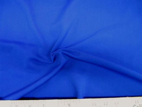 Discount Fabric Polyester Lycra Spandex 4 way Super Stretch Royal Blue LY987