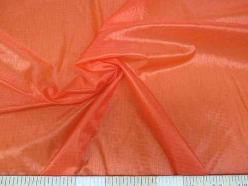Discount Fabric Ripstop Rip Stop Nylon Water Resistant Orange RS41