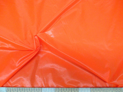 Discount Fabric Ripstop Rip Stop Nylon Water Resistant Neon Orange RS42