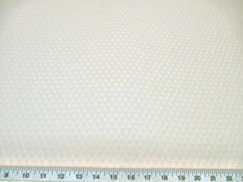 Discount Fabric Drapery Jacquard Check Eggshell White DR42
