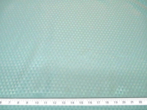 Discount Fabric Drapery Jacquard Check Mint Green DR43
