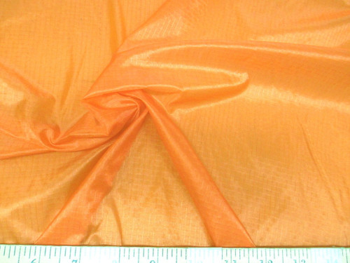 Discount Fabric 48 inch Ripstop Rip Stop Nylon Water Resistant Light Orange RS45