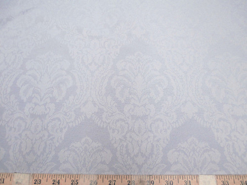 Discount Tablecloth Fabric 75 inches wide Jacquard Damask Floral Dove Gray DR48