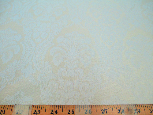 Discount Fabric 72 inches wide Drapery Jacquard Damask Floral Ivory DR49