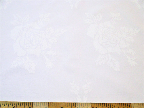 Discount Twill Tablecloth Fabric Home Decor Jacquard All Over Rose White DR51