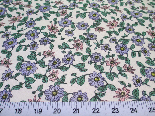 Discount Fabric Cotton Apparel Pink, Blue and Green Floral K308