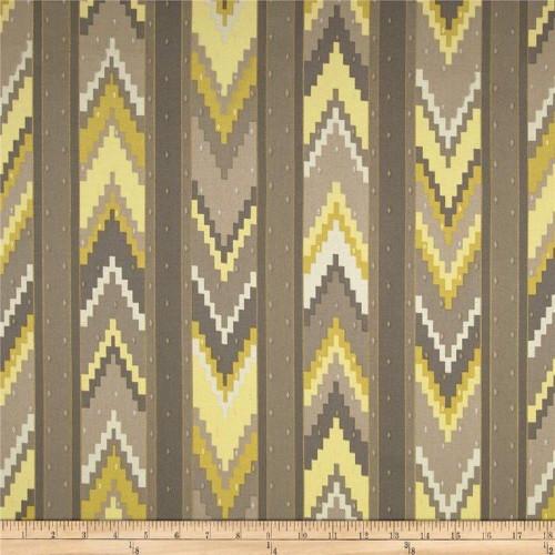 Discount Fabric Richloom Upholstery Drapery Marbella Smoke Aztec Chevron MM25