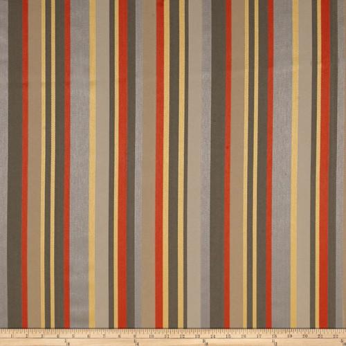 Discount Fabric Richloom Indoor Outdoor Olefin Kauai Graphite Stripe MM35