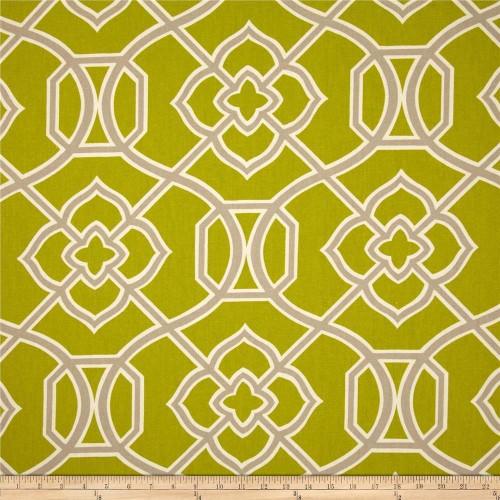 Discount Fabric Richloom Upholstery Drapery Malibar Peridot Green Geometric MM43