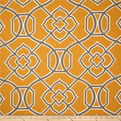 Discount Fabric Richloom Upholstery Drapery Malibar Apricot Geometric MM44
