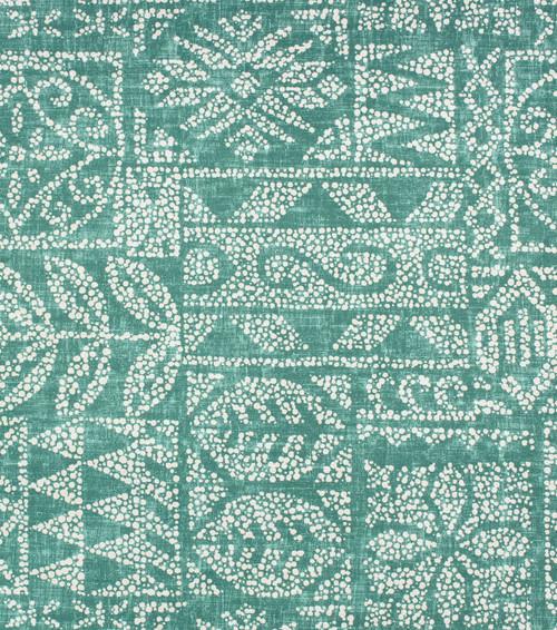 Discount Fabric Richloom Solarium Indoor Outdoor Danul Patina Green Tribal NN11